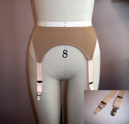 Nude Shades Garter Belt