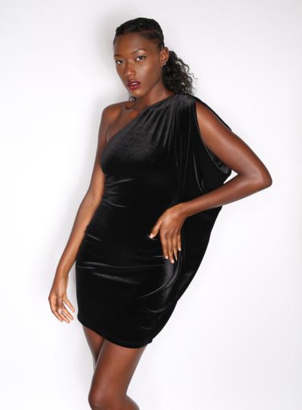 Ebony Velvet Dress