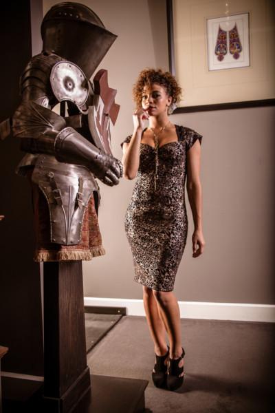Racquel Damask Dress