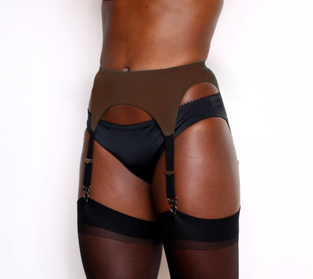 Nude Shades Garter Belt