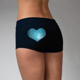 Vinyl Heart Shorts